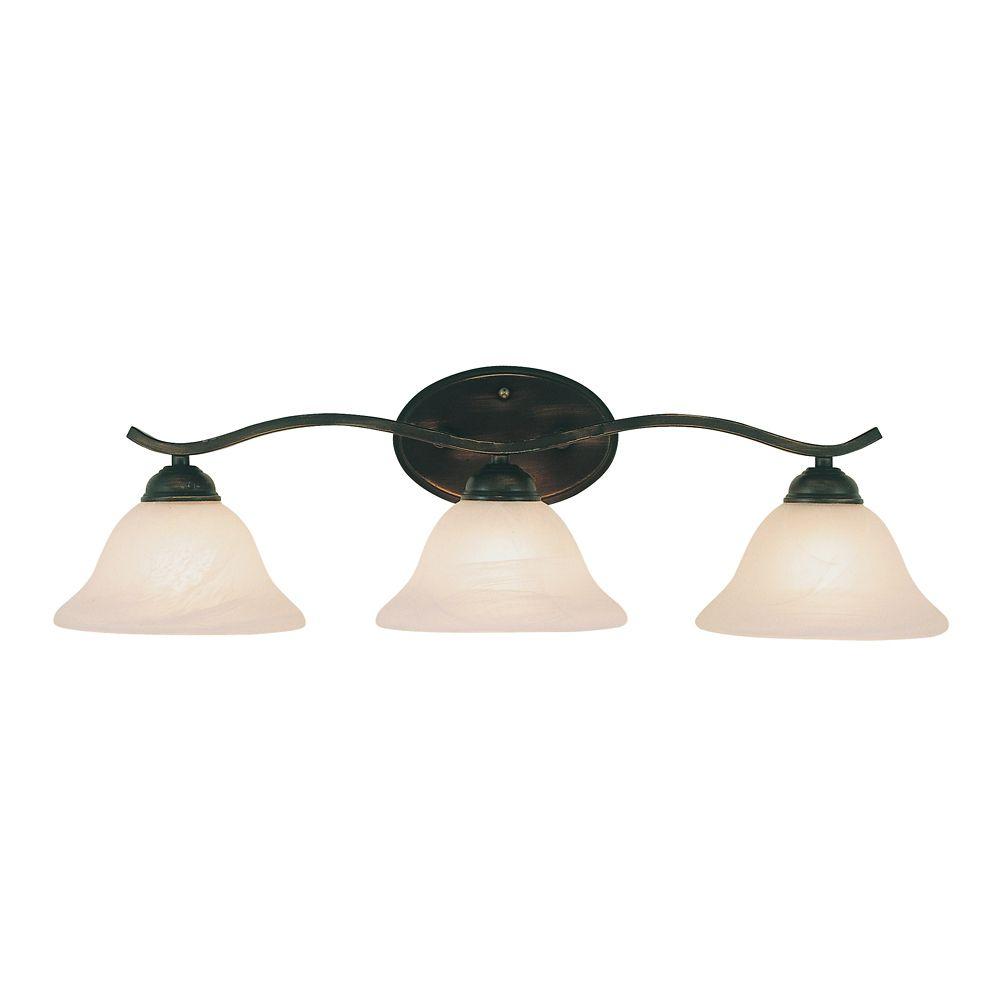 Luminaire de lavabo en voûte à 2 lumières,  bronze