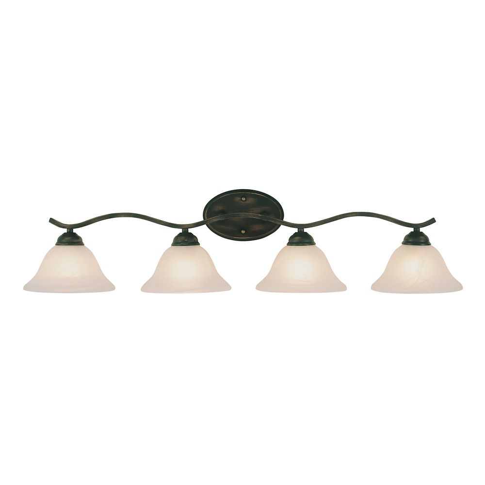 Bel Air Lighting Bronze Arch 4 Light Vanity