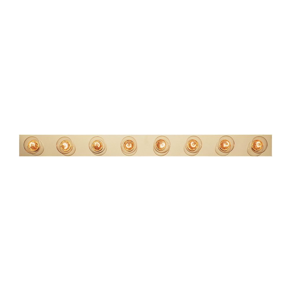 Brass Strip 8 Light Vanity