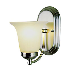 Bel Air Lighting Nickel with Marble Glass Sconce
