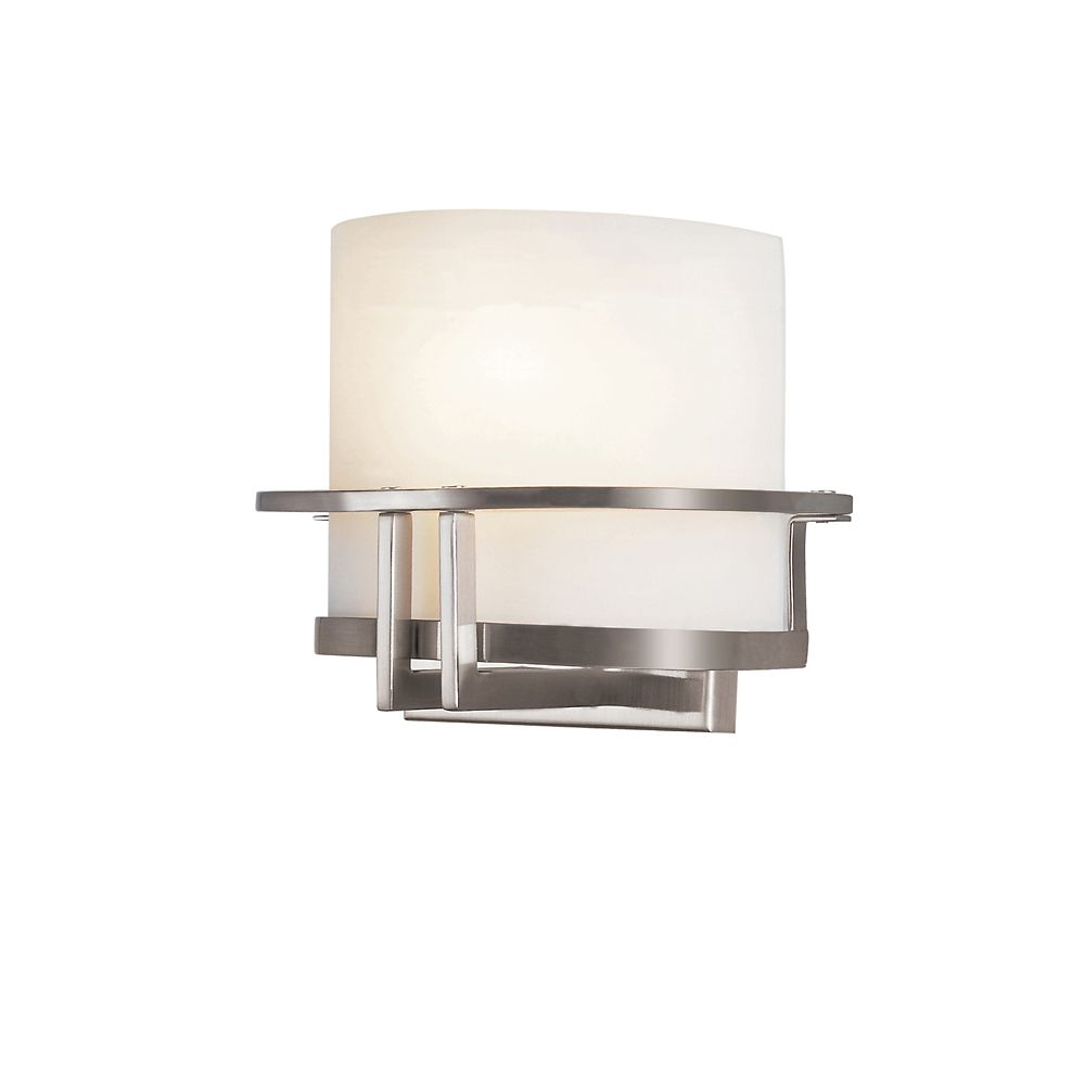 Bel Air Lighting Nickel Curved to Wall Sconce