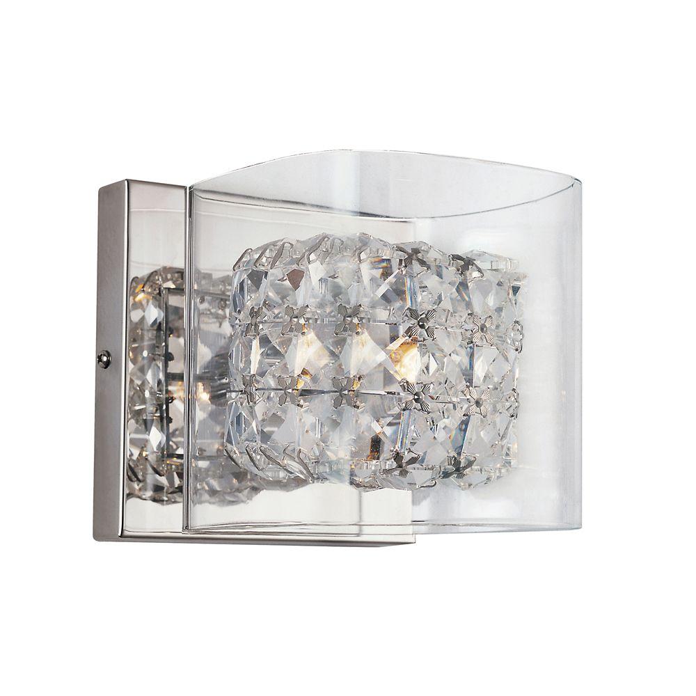 Applique, blocs de cristal et verre transparent