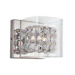 Bel Air Lighting Applique, blocs de cristal et verre transparent