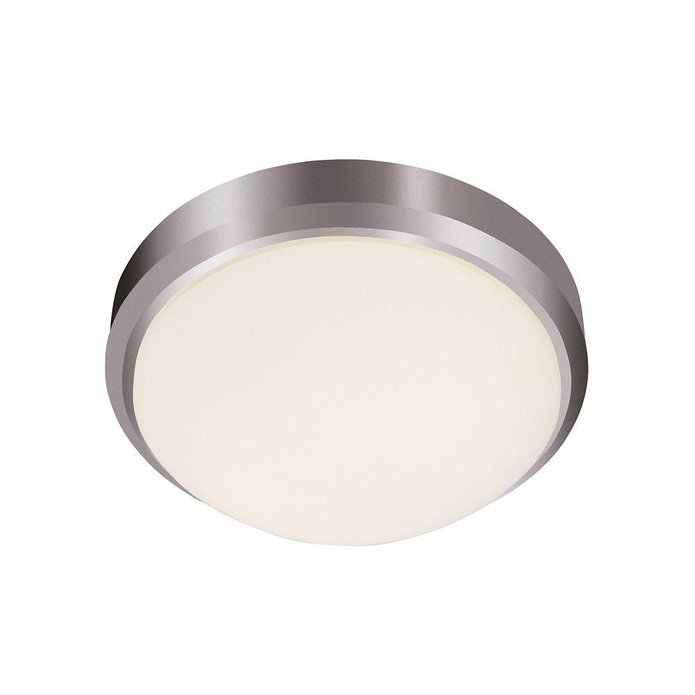 Bel Air Lighting Nickel Rim 11 inch Flush Mount