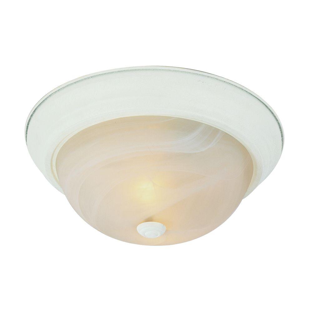 Luminaire affleurant, blanc et marbré, 33,02 cm (13 po)