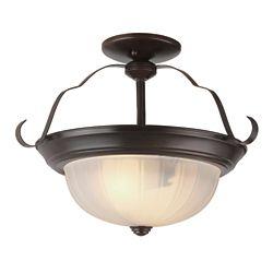 Bel Air Lighting Bronze Brim 13 inch Kitchen Flushmount