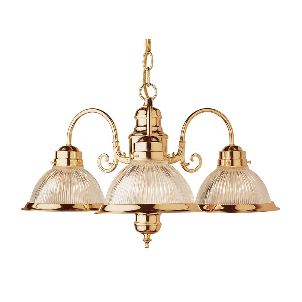 Bel Air Lighting Brass 3 Down Kitchen Chandelier