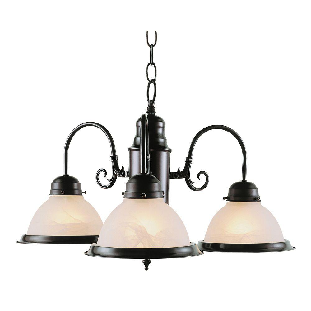 Bel Air Lighting Bronze 3 Down Kitchen Chandelier
