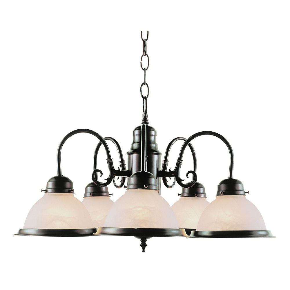 Bel Air Lighting Bronze 5 Down Kitchen Chandelier