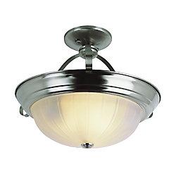 Bel Air Lighting Nickel Brim 11 inch Kitchen Flushmount