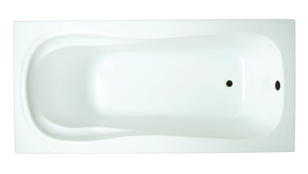 Serena 5 Feet Acrylic Drop-in Non Whirlpool Bathtub in White