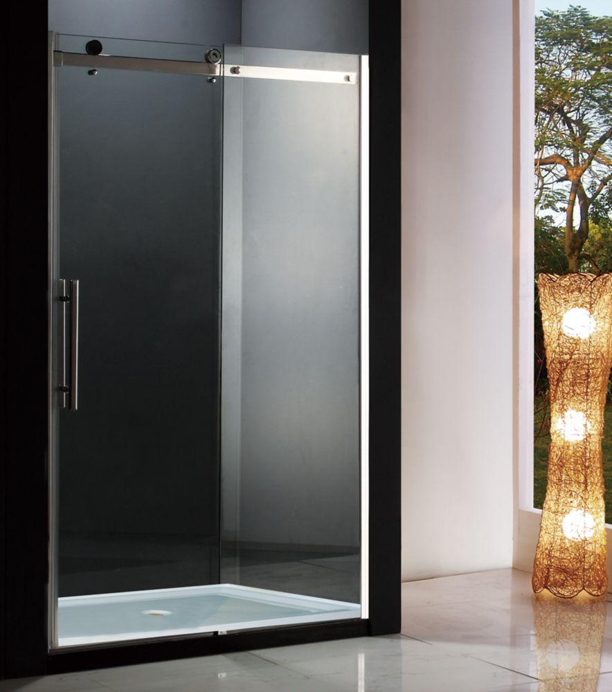 Riga 48 inch 8mm Clear Glass Sliding Shower Door