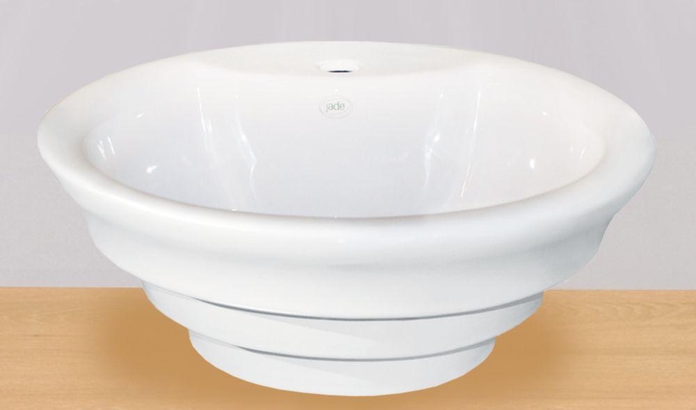 Cally 18.5-inch x 7.25-inch x 18.50-inch 1-Hole Circular Ceramic Bathroom Sink