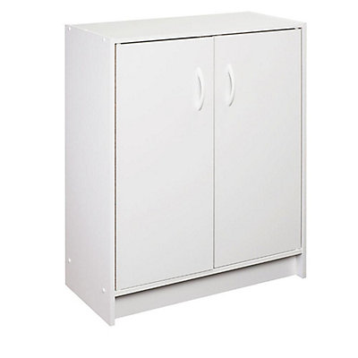 Closetmaid 30 In H X 24 W 12 D White Raised Panel Wall Storage Cabinet The Home Depot Canada