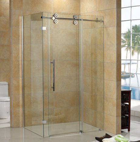 Jade Bath Regal II 10mm Clear Glass 36 inch x 48 inch Sliding Shower Door with Return Panel