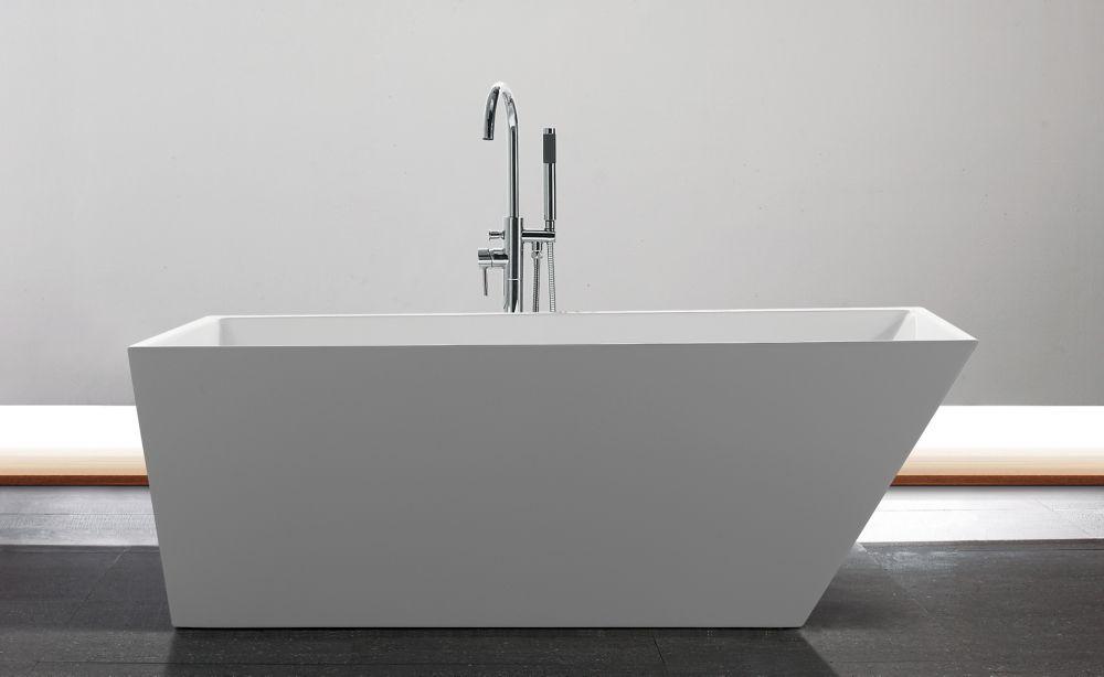 Adam 5 Feet 6-Inch Freestanding Bathtub in White