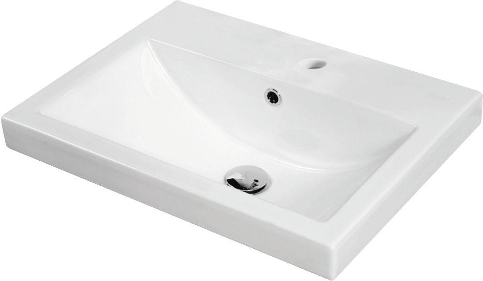 Jade Bath Sharon 22-inch x 2.25-inch x 16.5-inch 1-Hole Square Ceramic Bathroom Sink