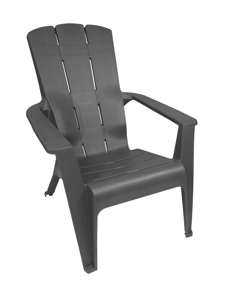 Gracious Living Contour Patio Muskoka Chair in Grey