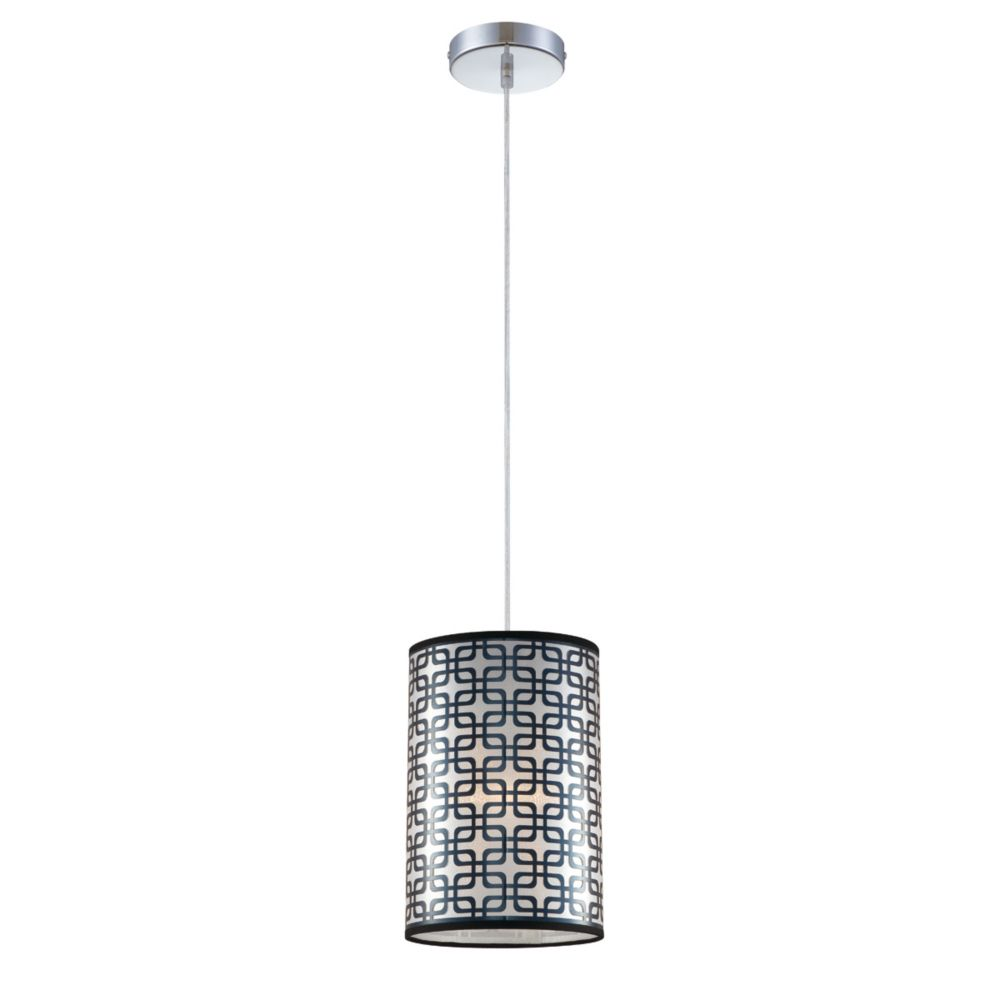 Adagio Collection 1 Light Large Chrome Pendant