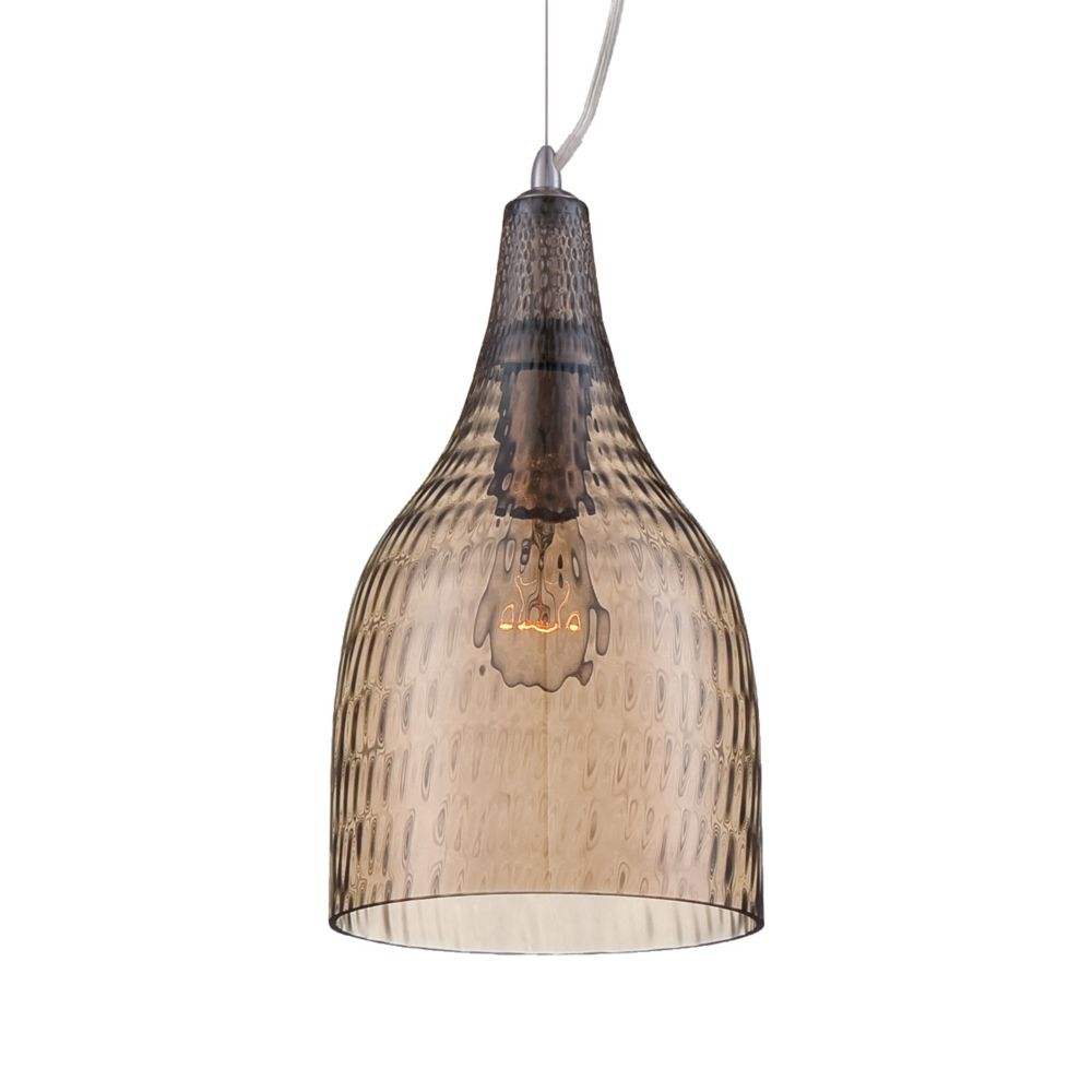 Altima Collection 1 Light Chrome & Amber Pendant