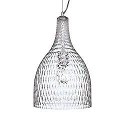 Eurofase Altima Collection 1 Light Large Chrome & Clear Pendant