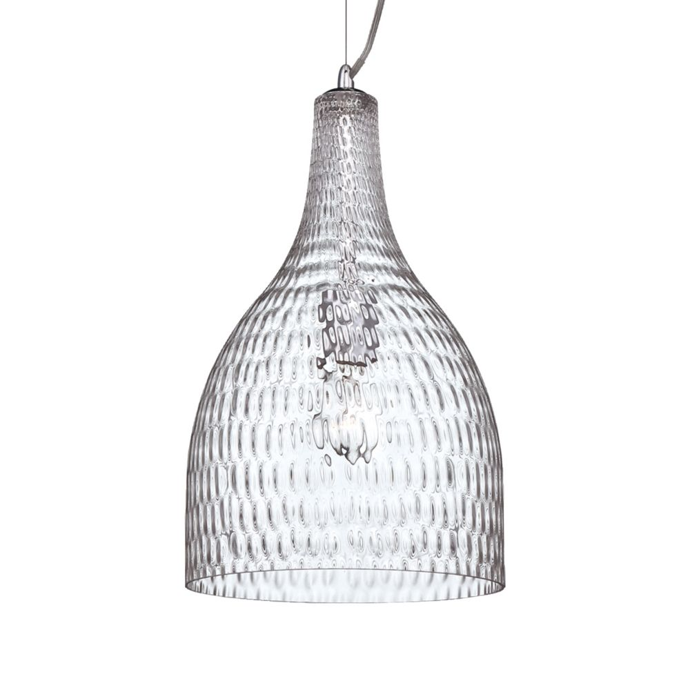 Eurofase Altima Collection 1 Light Large Chrome & Clear Pendant