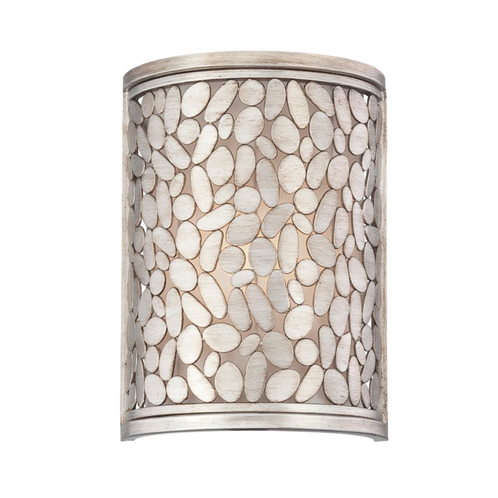 Amano Collection 1 Light Silver Wall Sconce