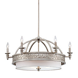 Eurofase Amano Collection 9 Light Silver Chandelier