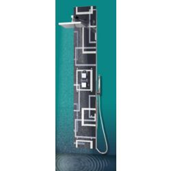 Jade Bath Tanys Glass Shower Column with 6 Body Jets and Hand Shower in Chrome