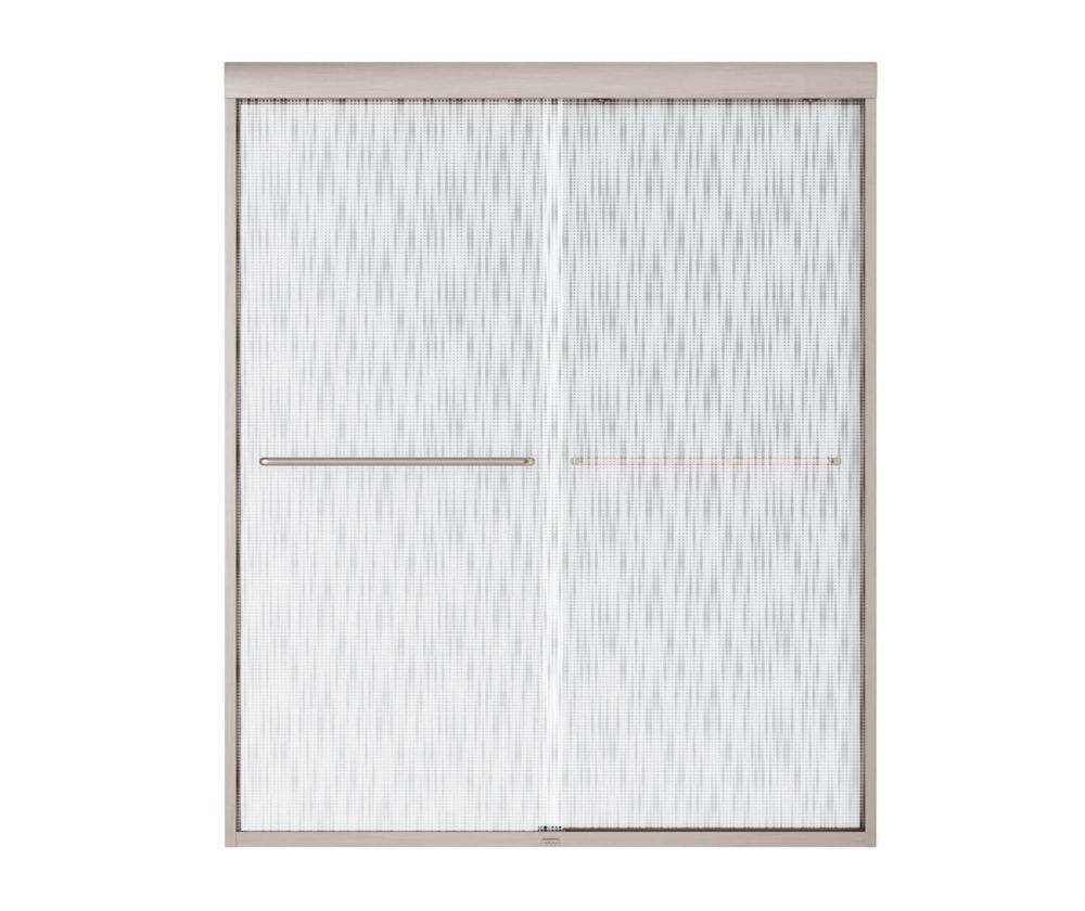 Tonik Shower Door 60 Inch � Effervescence, Brushed Nickel