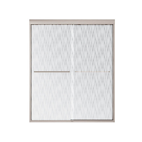 Tonik Shower Door 60 Inch  Effervescence, Brushed Nickel