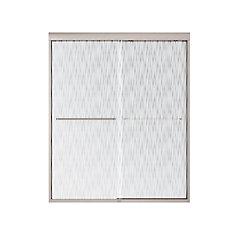 Tonik Shower Door 60 Inch  Effervescence, Brushed Nickel