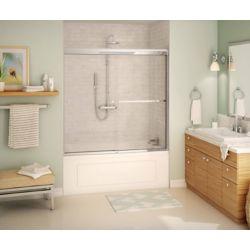 MAAX Porte pour baignoire-douche Noble 60'' en verre clair - Chrome, 8 mm, Soft Close