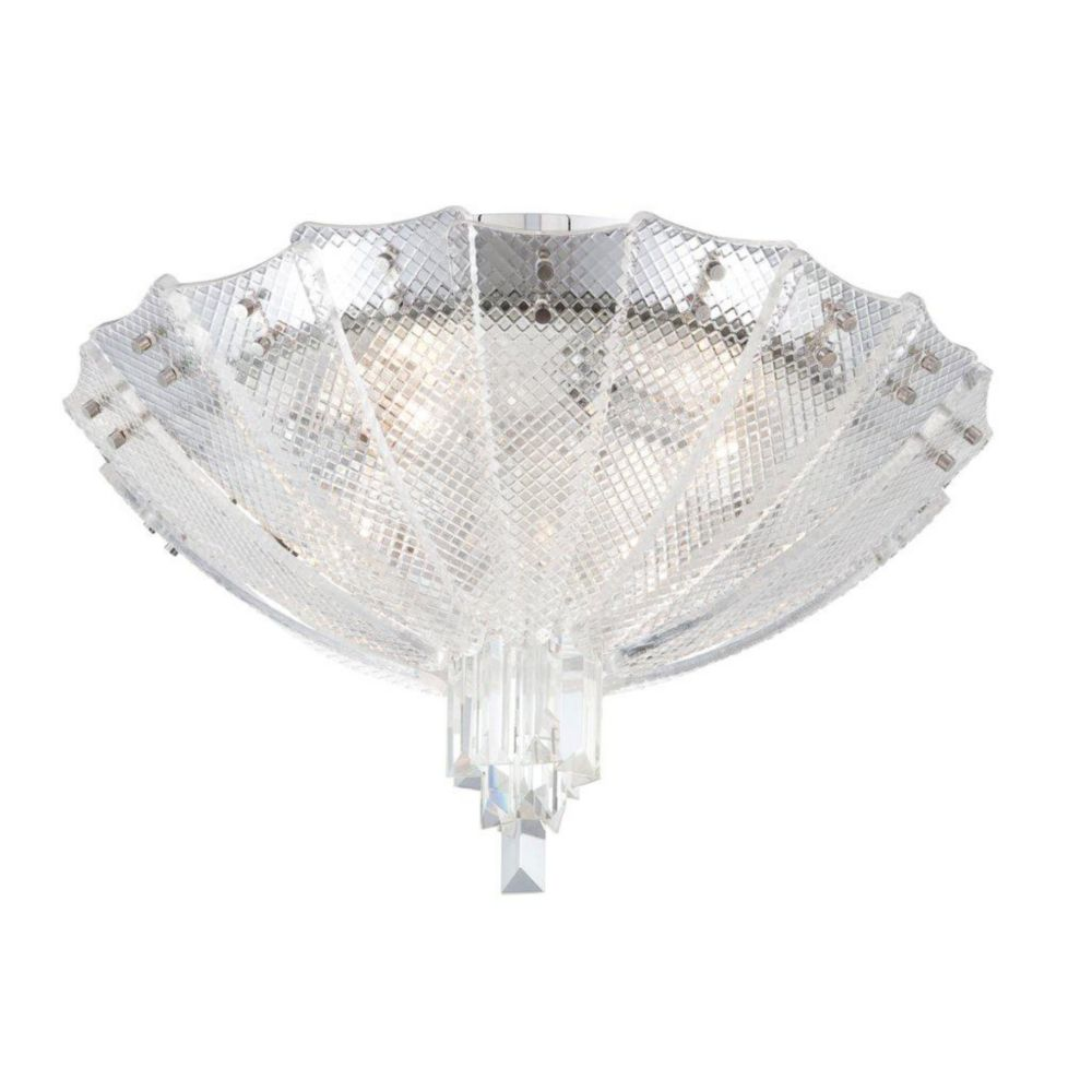 Swan Collection 4 Light Clear Flushmount