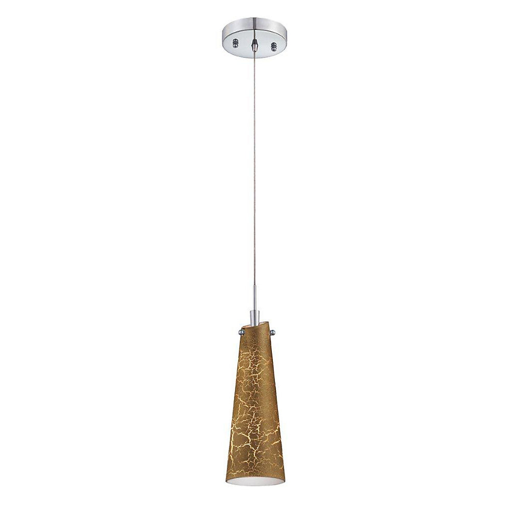 Tenor Collection 1 Light Chrome & Gold Pendant