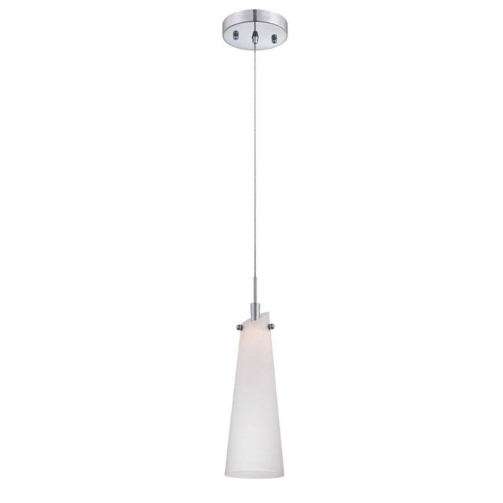 Tenor Collection 1 Light Chrome & White Pendant