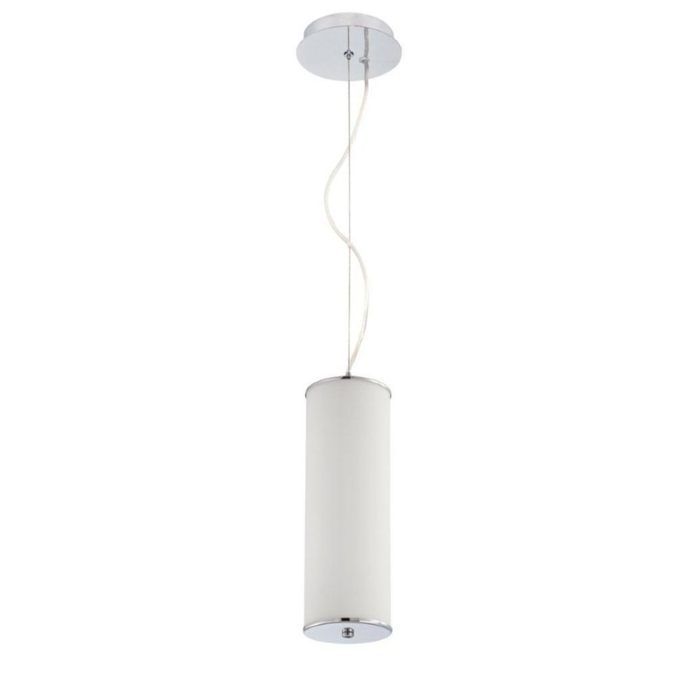 Tubo Collection 3 Light Chrome Pendant