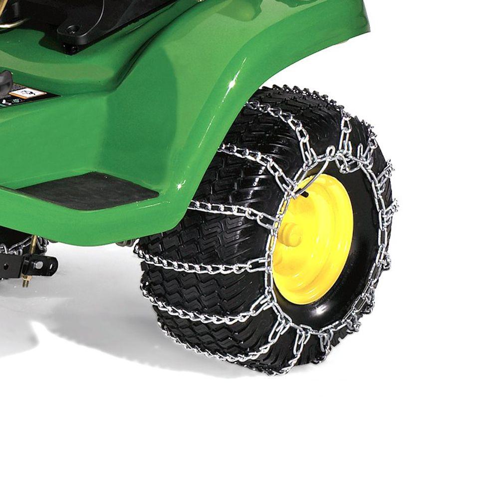 20-inch Rear Tire Chains (John Deere Models: D100, D105, D110, D120, D130, LA105, LA115, LA125)