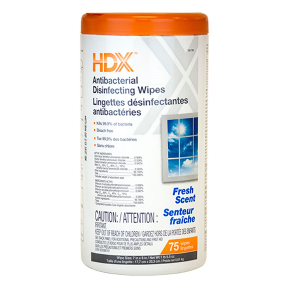 Disinfecting Wipes Fresh 75ct HOMDE00-CA in Canada