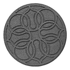 18 Inch Round SCROLL GREY Stepping Stone