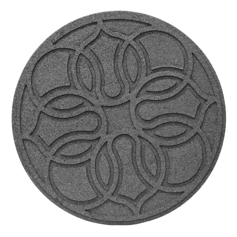 18 Inch Round SCROLL GREY Stepping Stone