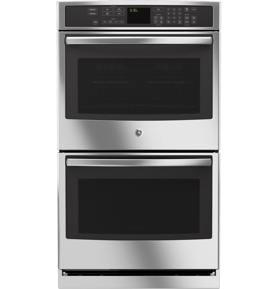 10 cu. ft. Electric Convection Self-Cleaning Double Wall Oven in Stainless Steel