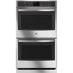 GE 30-inch Double Electric Wall Oven Self-Cleaning with Convection in Stainless Steel
