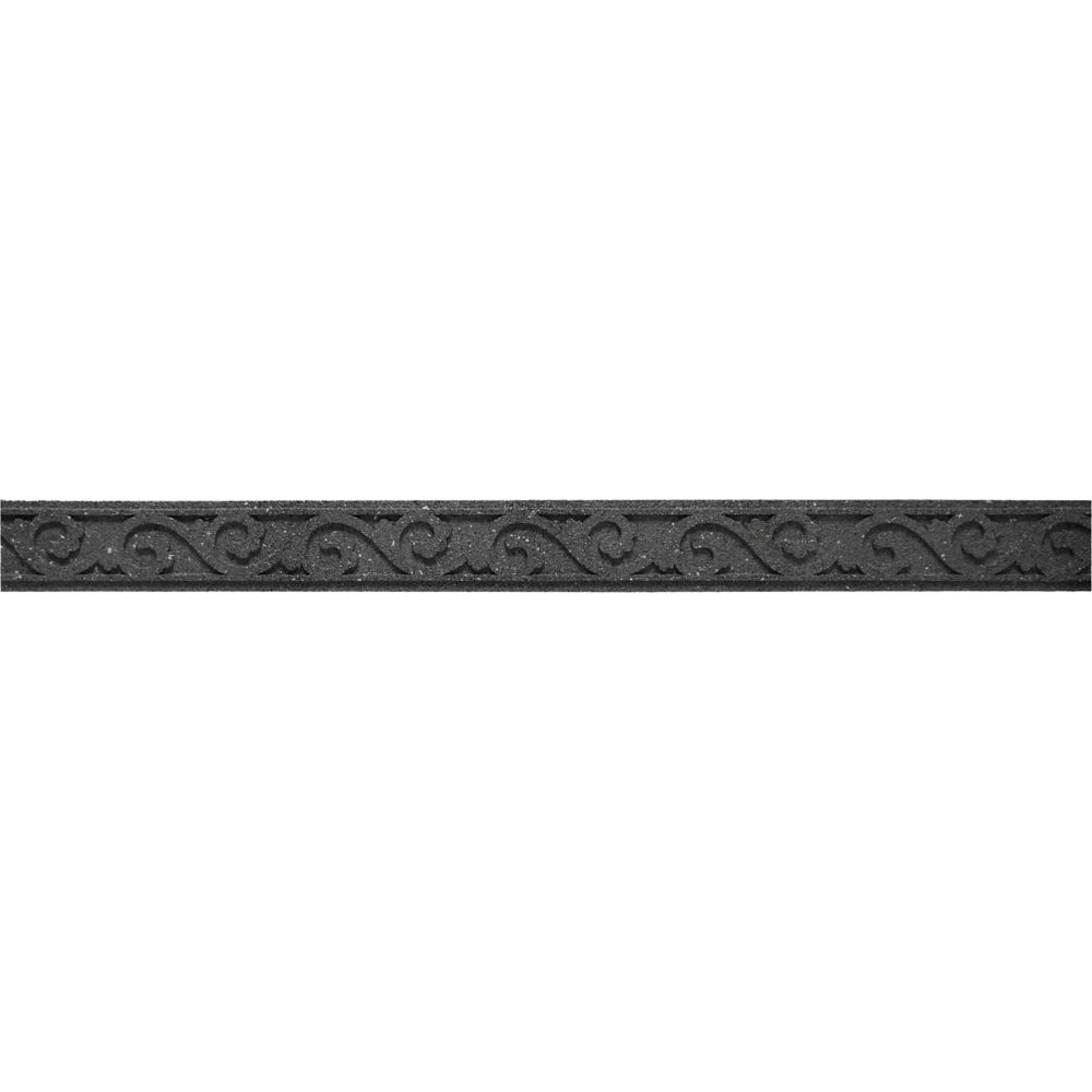Ecotrend 3 1/2-inch x 48-inch Flexi-Curve Scroll Grey Edger