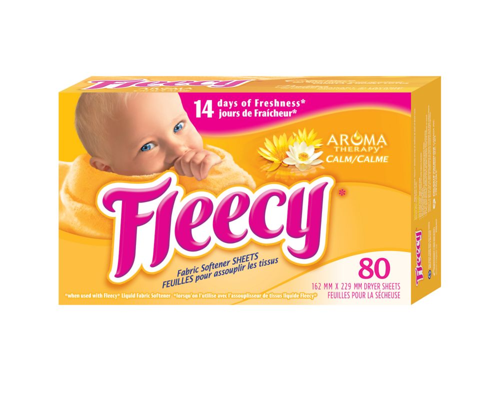 Fleecy Dryer Sheets, Aroma Therapy Calm 80 ct.