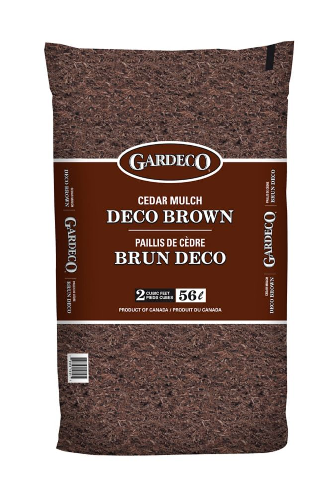 Gardeco Brown Cedar Mulch - 2 cft