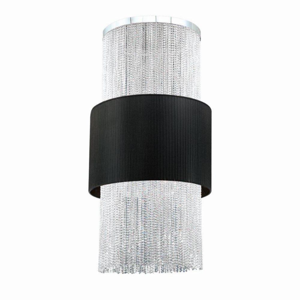 Harmoni Collection 18 Light Chrome & Black Pendant