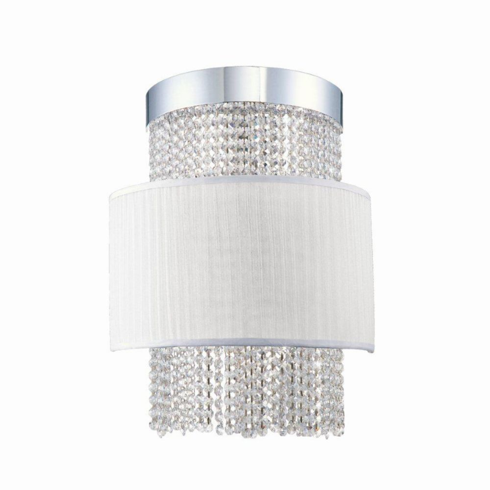 Harmoni Collection 4 Light Chrome & White Wall Sconce