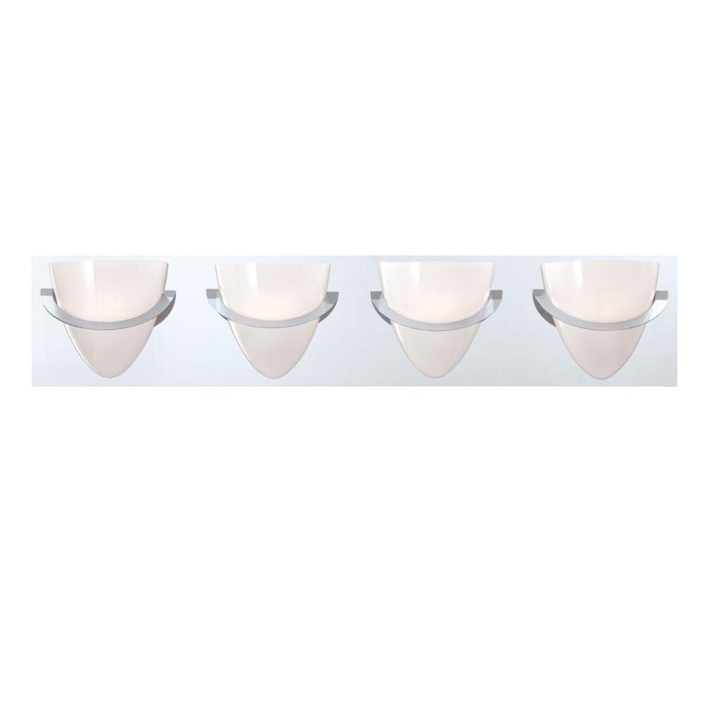 Eurofase Forma Collection 4 Light Chrome Bath Bar