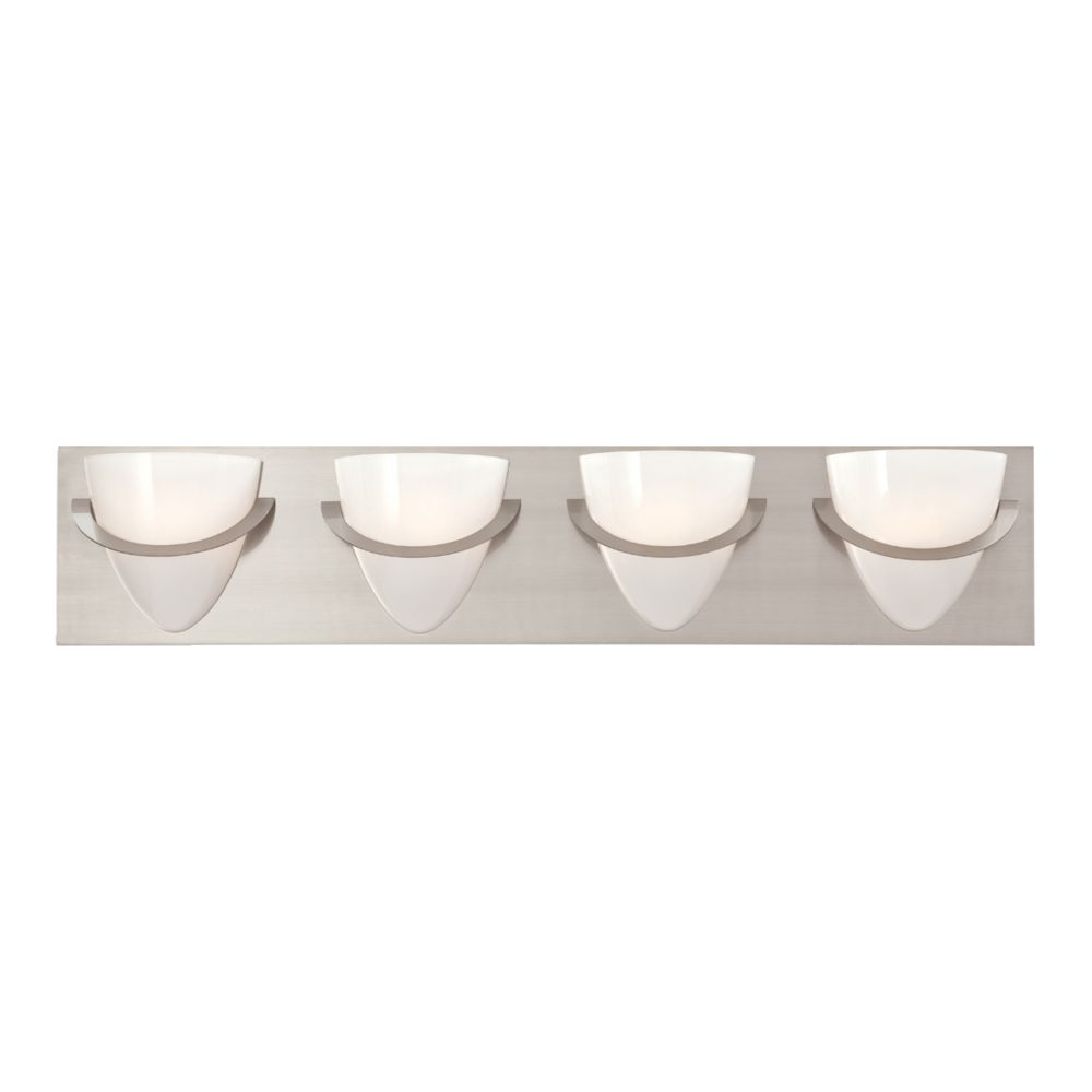 Forma Collection 4 Light Satin Nickel Bathbar